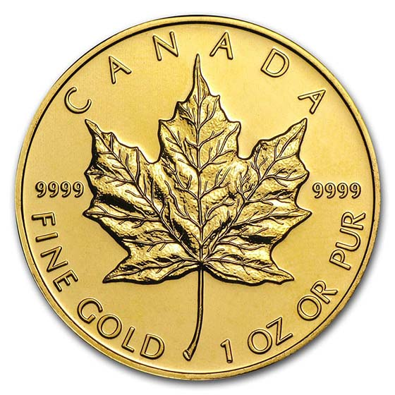 1 oz Gold Canadian Maple Leaf - Random Year